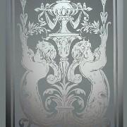 Glas Bearbeitung Sandstrahlmotiv